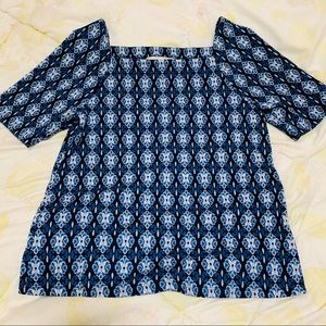 Loft Blue Short Sleeves Top Size: XS New With Tag